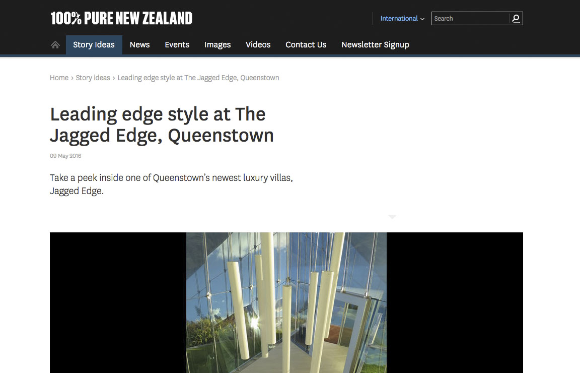 Tourism New Zealand highlights Jagged Edge