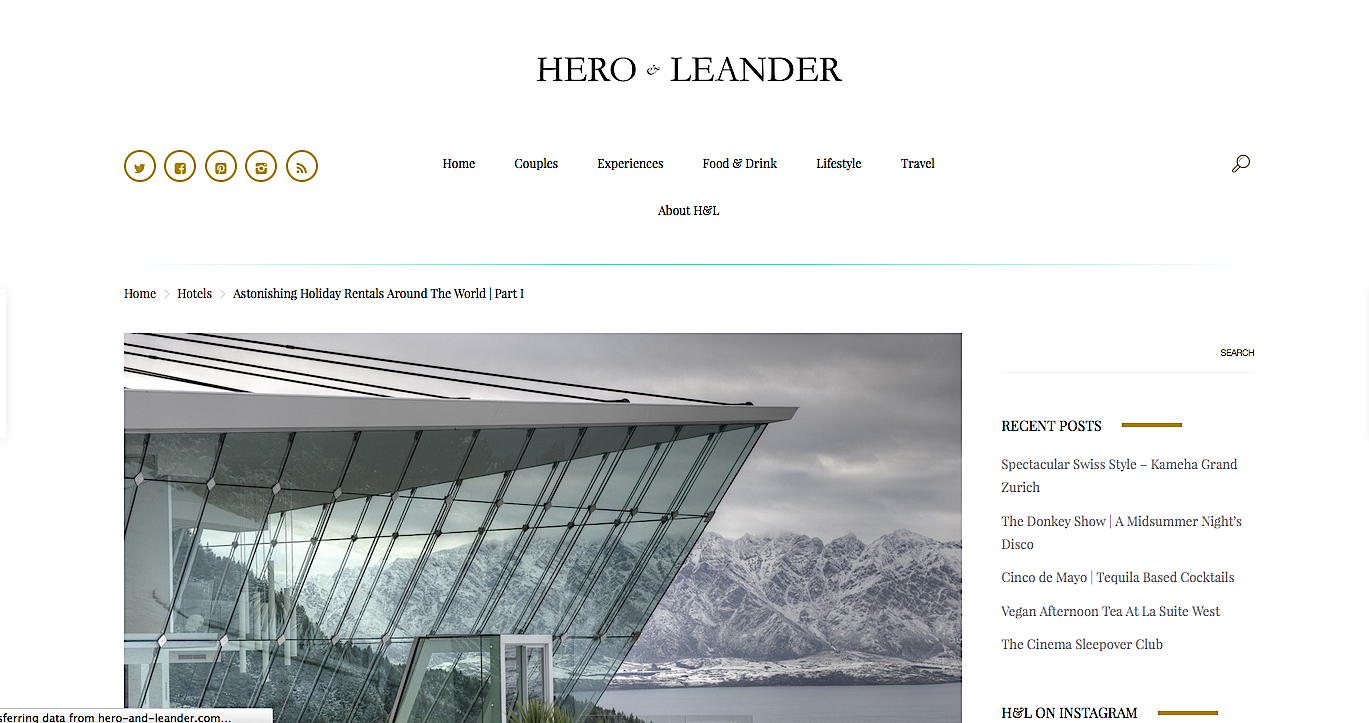 Astonishing Holiday Rentals Around The World