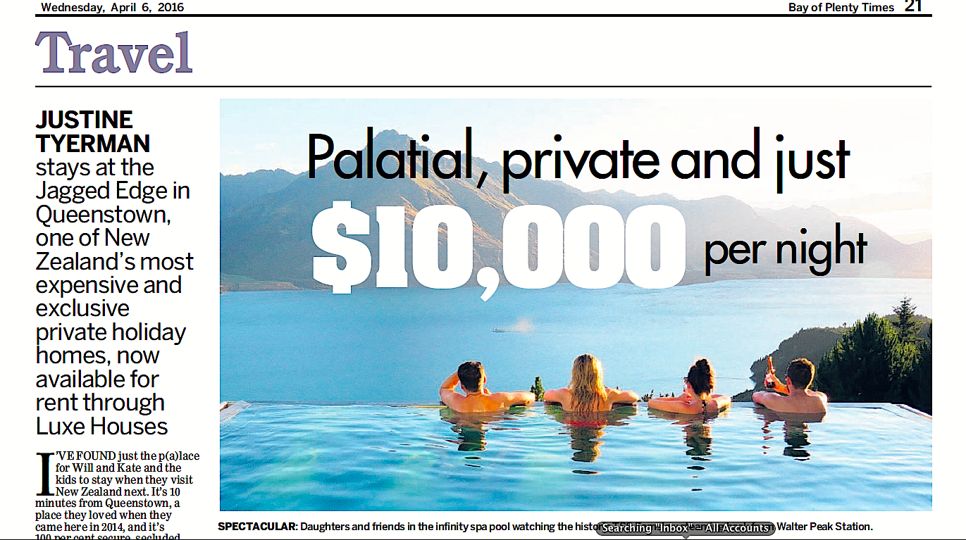 Palatial, private and made for Will and Kate