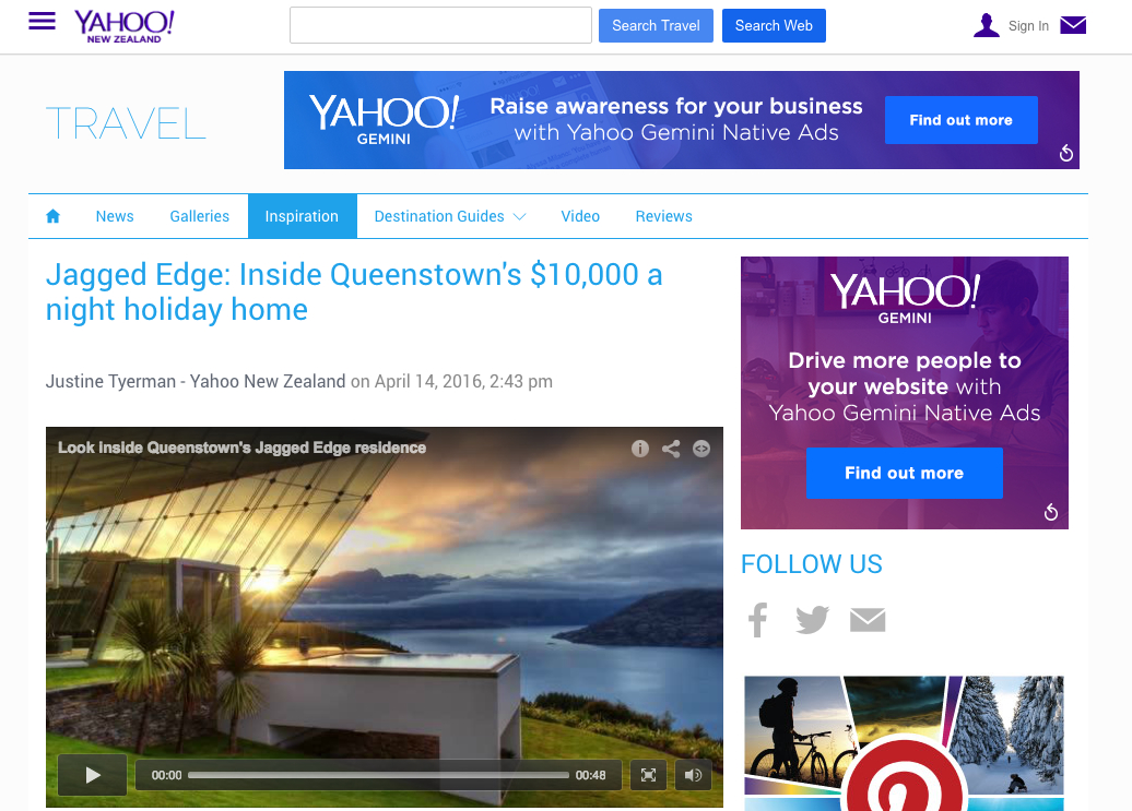 Inside Queenstown's $10,000 a night holiday home