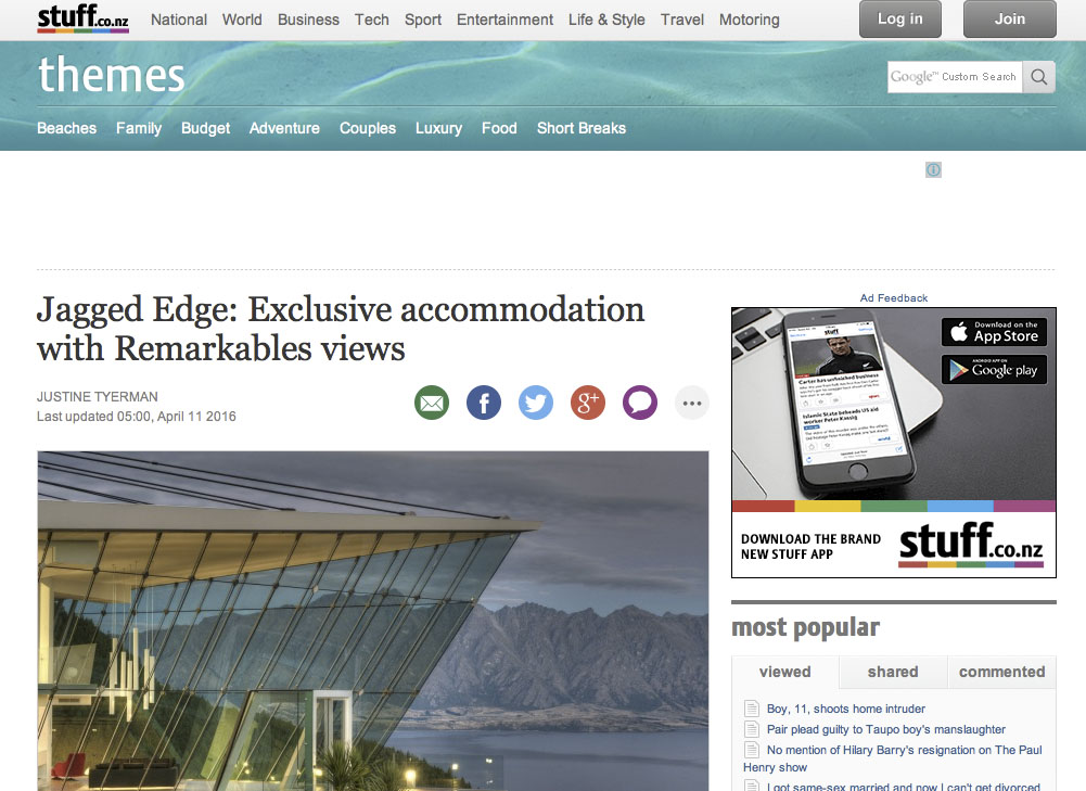 Exclusive with Remarkables views