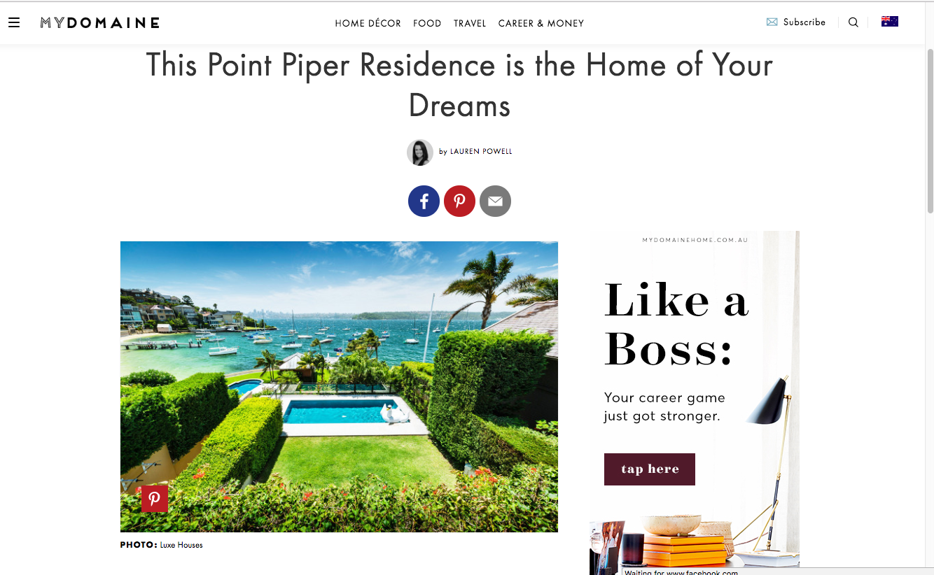 Luxe Houes by Contemporary Hotels Point Piper