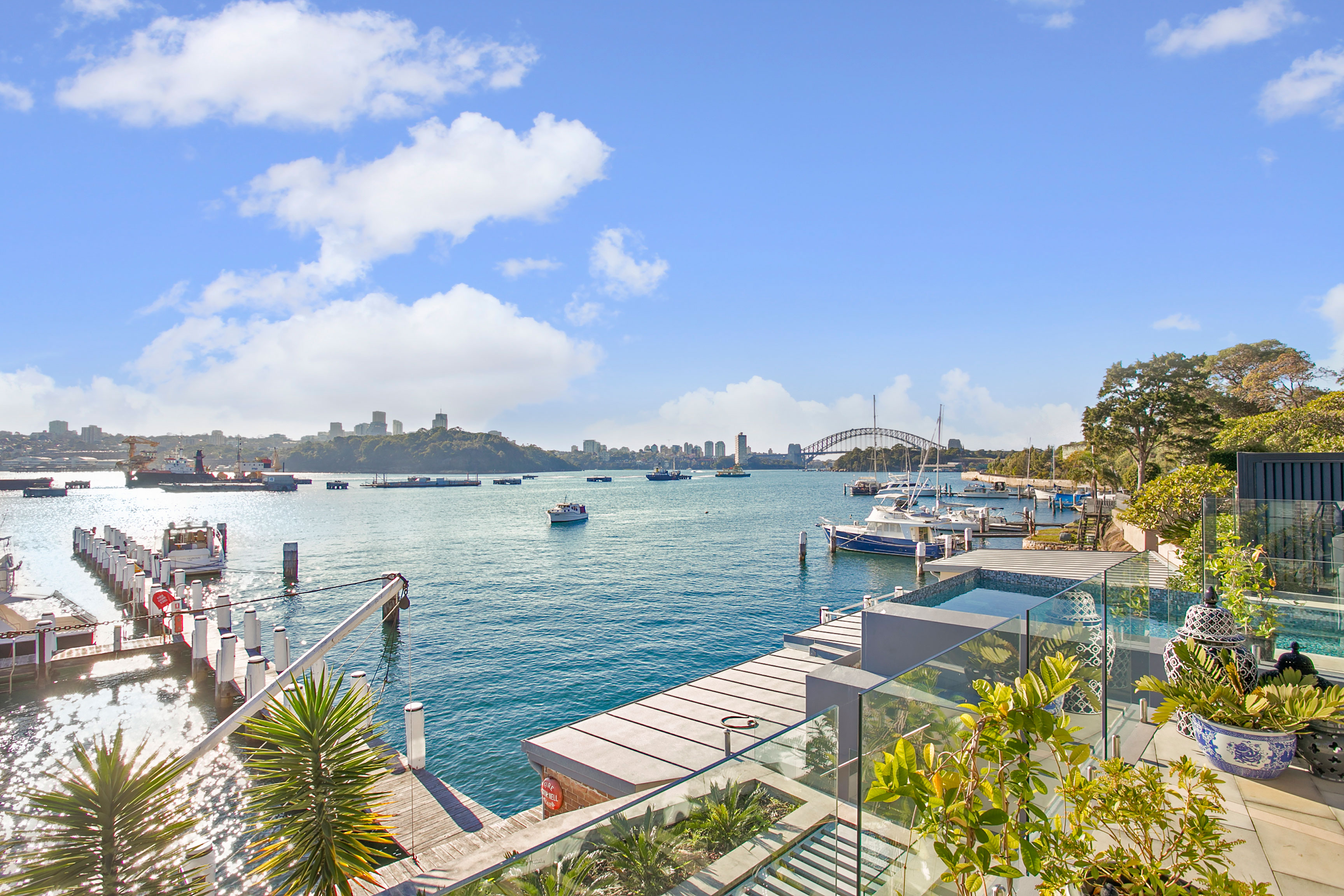 A private yacht at your door features at the Wharf Birchgrove