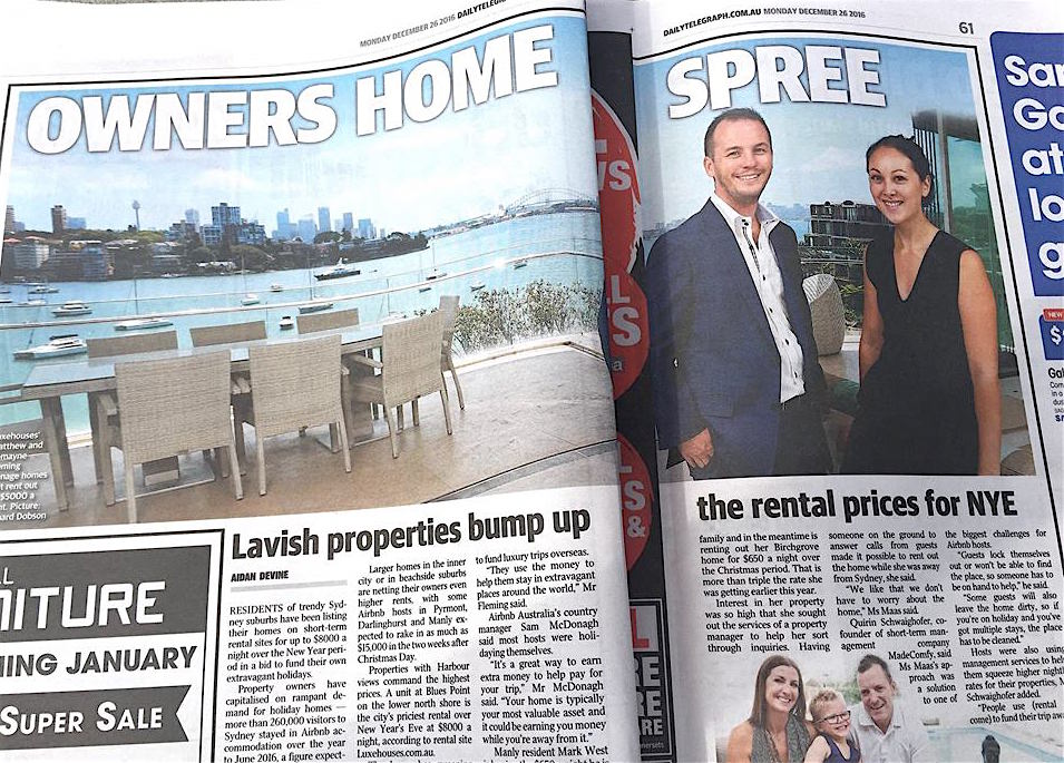 Sienna Point Piper features in Daily Telegraph